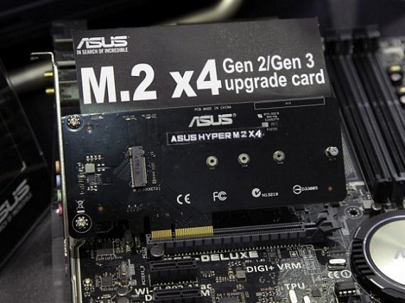 Hyper M.2 X4 adapter de Asus