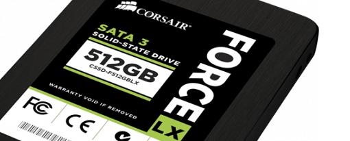Los SSDs Force Series LX de Corsair ahora en capacidad de 512 GB
