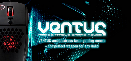 Ratón laser VENTUS ambidextrous de Tt eSports