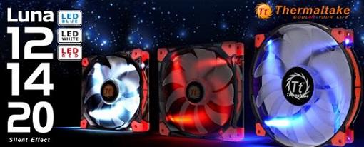 Thermaltake amplia su gama de ventiladores de la serie Luna