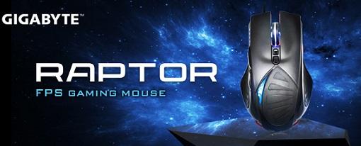 Ratón para juegos FPS Raptor de Gigabyte