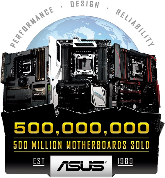 ASUS Celebrates 500 Million Motherboard Sales