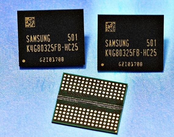 Chips de memoria GDDR5 de 8 GB de Samsung