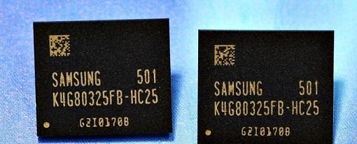 Samsung comienza la producción masiva de chips de memoria GDDR5 de 8 GB