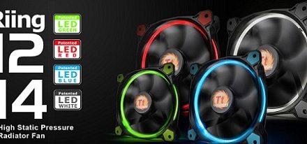 Nuevos ventiladores Riing 12 y Riing 14 de Thermaltake