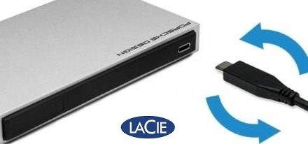 Lacie lanzó sus unidades Porsche Design Mobile Drive con conector USB-C