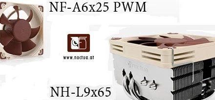 Disipador NH-L9x65 y ventilador NF-A6x25 PWM de Noctua
