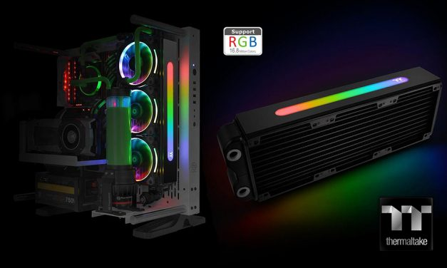 Thermaltake Pacific RL360 Plus RGB es el primer radiador con luces LED