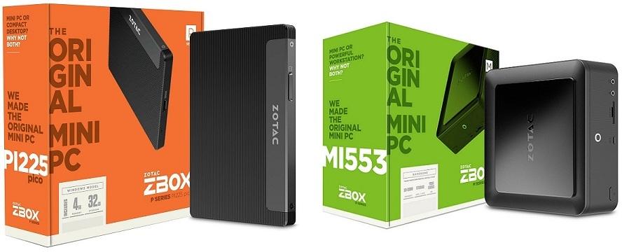 Zotac anuncia sus nuevas ZBOX MI553 y PI225