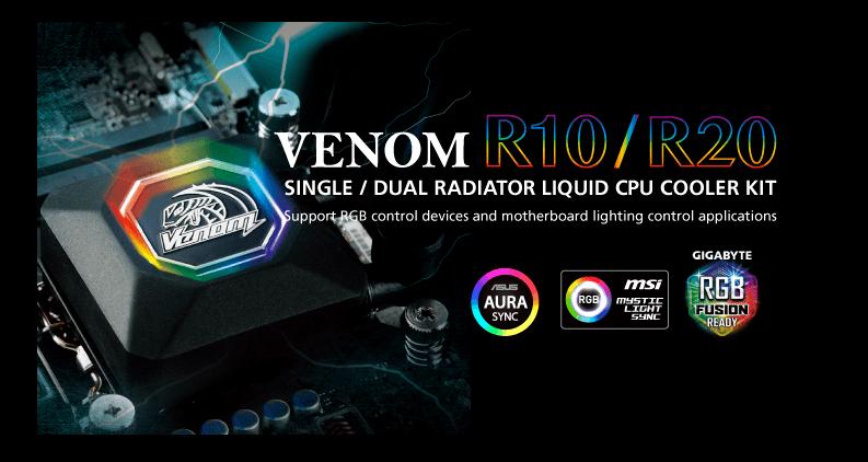 Nuevos disipadores para CPU Venom R10 y R20 de Akasa