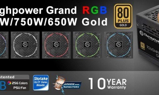 Thermaltake lanza su nueva serie de fuentes Toughpower Grand RGB Platinum