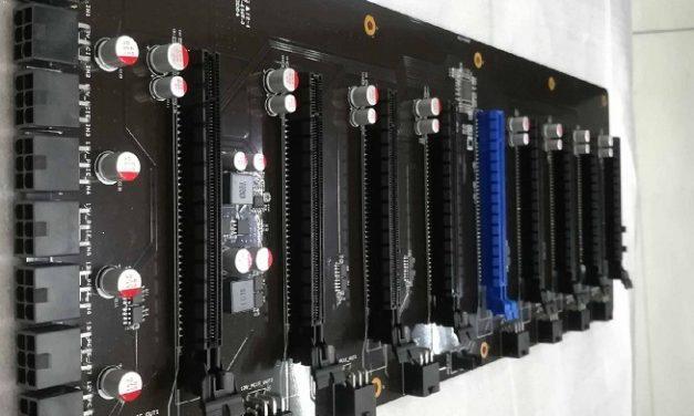 Nueva placa base C.J1900A-BTC PLUS V20 orientada a la minería