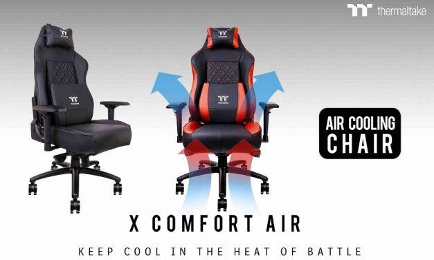 Thermaltake anuncia su silla gaming X COMFORT AIR